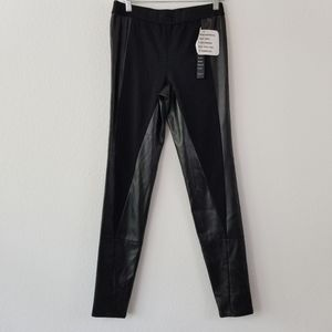 FAUX LEATHER BLACK LEGGINGS NEW WITH TAGS. 2b.RYCH